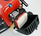 Der effektive Luftfilter ist leicht und werkzeuglos zugänglich. Seine große Fläche sorgt für längere Reinigungsintervalle.