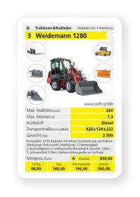 Mieten  Radlader: Weidemann - 1280 Radlader (mieten)