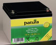 Weidezauntechnik: Patura - 133200 Weidezaun-Akku 12V32AH Super-Vlies