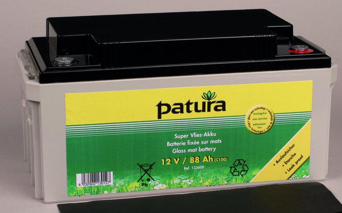 Weidezauntechnik:                     Patura - 133600 Weidezaun-Akku 12V88AH Super-Vlies