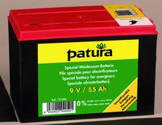 Weidezauntechnik: Patura - 151200 Weidezaunbatterie 9V55AH Spezial