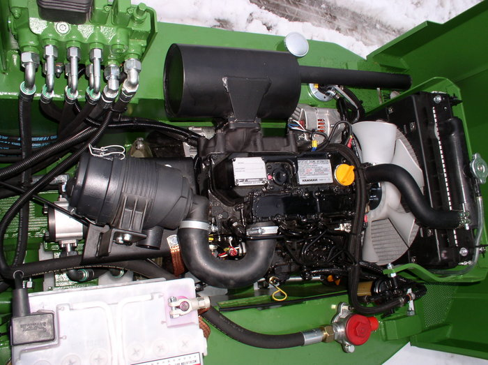 Motor u. Hydraulikpumpen