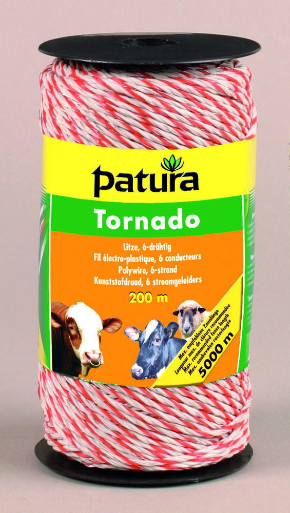 Weidezauntechnik:                     Patura - 180501 Litze Tornado 200m Rolle