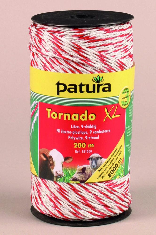 Weidezauntechnik:                     Patura - 181001 Litze Tornado XL 200m Rolle
