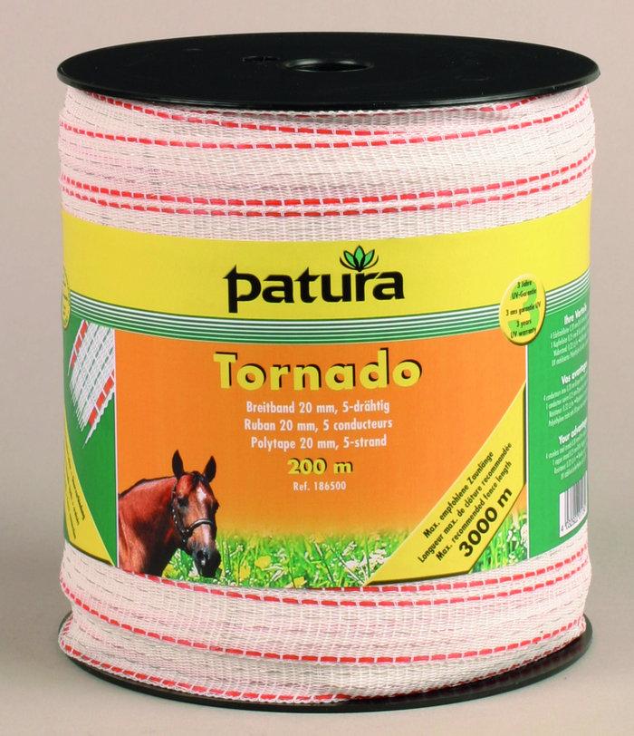 Weidezauntechnik:                     Patura - 186501 Breitband Tornado 20mm 200m Rolle