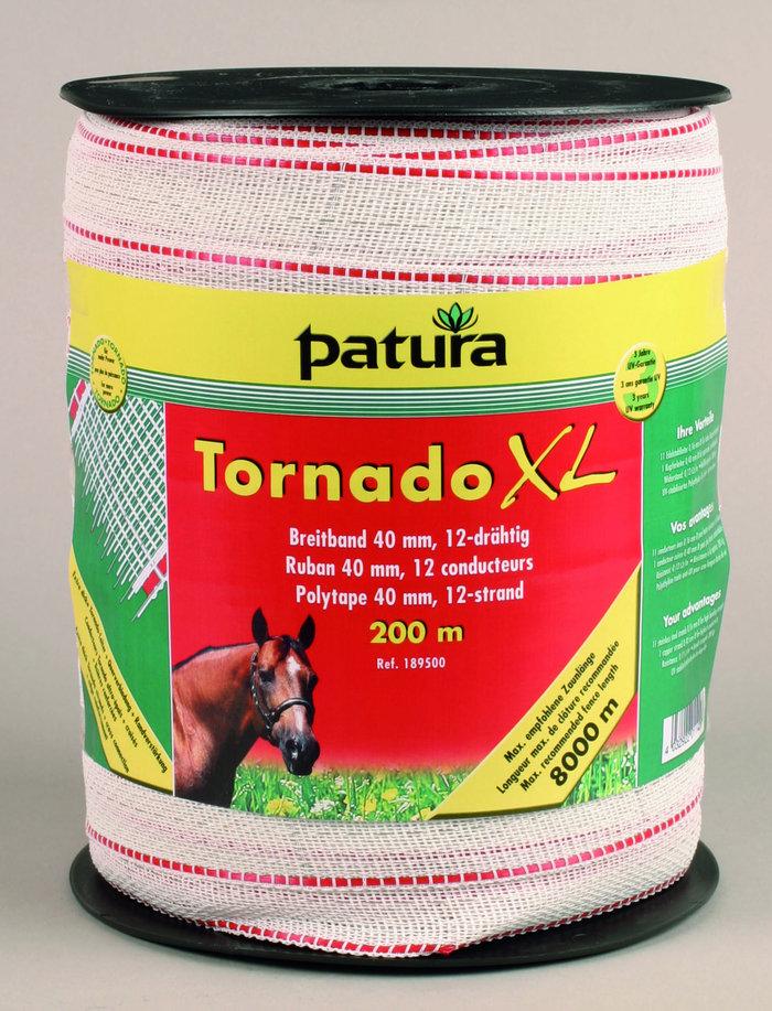 Weidezauntechnik:                     Patura - 189501 Breitband Tornado XL 40mm 200m Rolle