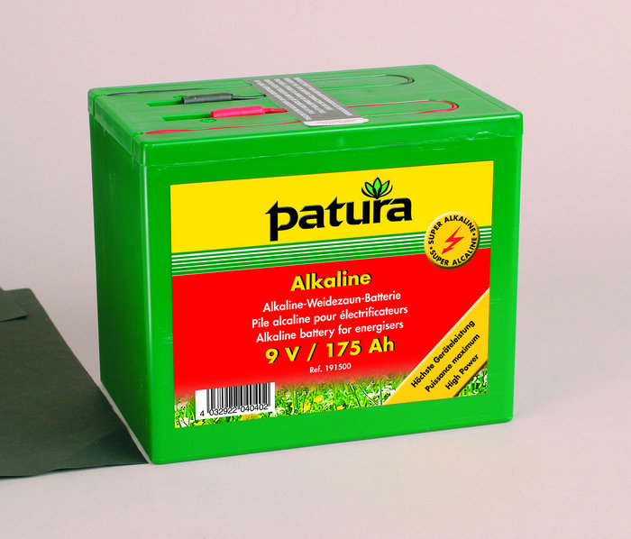 Weidezauntechnik:                     Patura - 191200 Weidezaunbatterie 9V120AH Super-Alkaline