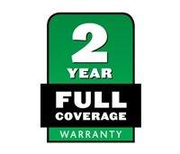 2-jährige Komplettgarantie  Wenn etwas bei normaler Nutzung und Wartung ausfällt, reparieren wir es kostenfrei.