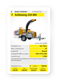 Mieten  Holzhäcksler: Schliesing - 235 MX (mieten)