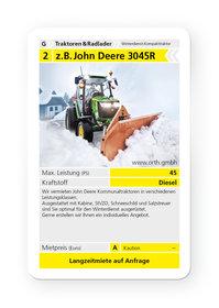 Mieten Kommunaltraktoren: John Deere - 3045R Winterdienst (mieten)
