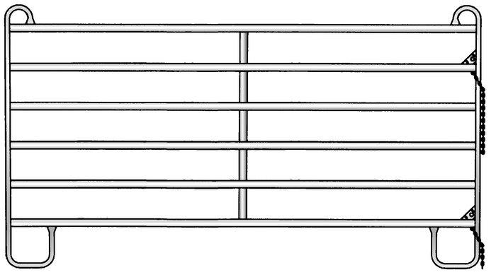 Weidezauntechnik:                     Patura - 310401 Sonder Panel 3,60 x 1,70 Mtr.