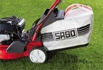 Die TurboStar™-Technik sorgt für einen optimalen Transport des Schnittgutes in den Fangsack.