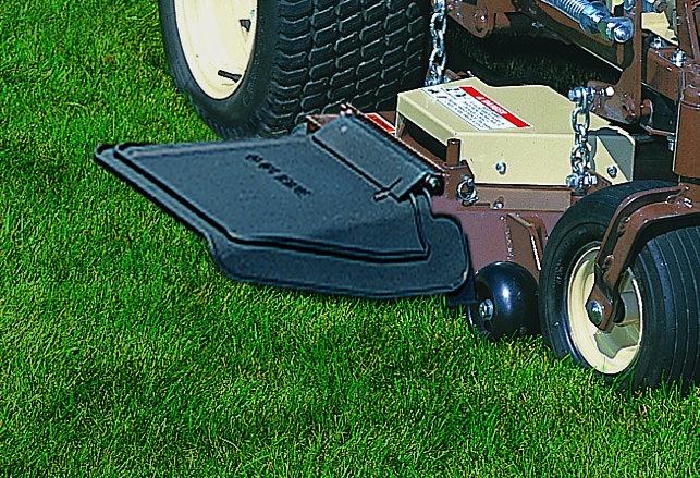Flexibler Deflektor für optimalen Luftstrom und perfekten Auswurf des Schnittgutes.