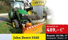 Kompakttraktoren: John Deere - 3720 Winterdienst