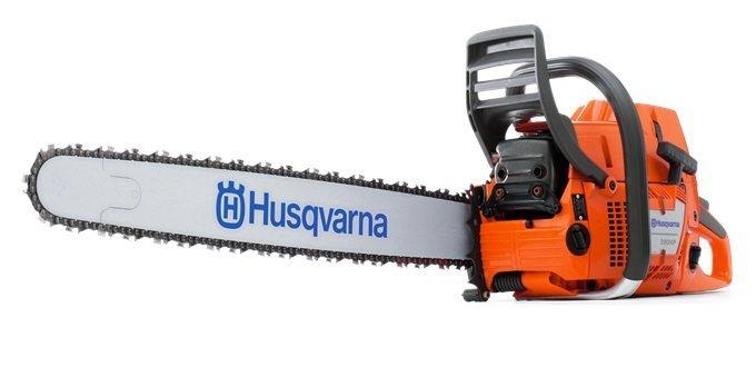 Profisägen:                     Husqvarna - 390 XP G Fäll- und Starkholzsäge 6,53 PS + Griffheizung  +  7,4 kg leicht
