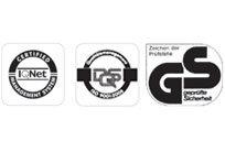 SABO überzeugt durch solide Technik und stetige Innovationen. Zur Sicherstellung unserer hohen Qualitätsstandards werden alle SABO Modelle regelmäßig auf Herz und Nieren geprüft. Alle SABO Geräte präsentieren sich mit CE-Zertifizierung und erfüllen damit die strengen europäischen Richtlinien und Gesetze. Doch damit nicht genug: Zusätzlich werden alle handgeführten SABO Rasenmäher vom TÜV oder von der DPLF* begutachtet und erhalten das GS-Zeichen für geprüfte Qualität.
