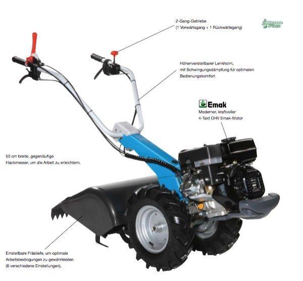 Motorhacken:                     Bertolini - 400 Umkehrfräse