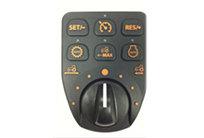 Maximieren Sie Ihre Produktivität mit dem eHydro™ Getriebe!  eHydro Komfort-Bedienungsmodul: Alle eHydro Komfort-BedienungselementeKomfortfunktionen wurden in einem einzelnen Modul integriertSteuerelement zusammengefasst. Durch Kombination von Merkmalen Funktionen wie SpeedMatch™, LoadMatch™, MotionMatch™, eThrottle™ und PKW-ähnlichereiner aus dem PKW bekannten Geschwindigkeitsregelung lässt sich die höchste Effizienz aus den einem Traktoren mit eHydro Getriebe herausholen. Alle diese Merkmale Funktionen gehören zur Serienausstattung der 3R-Modelle und sorgen für einfachere und komfortablere Bedienung..