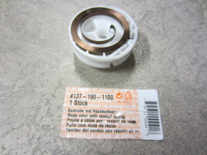 Ersatzteile:                     Stihl - 4137 190 1100 Seilrolle mit Rückholfeder 19,80 € inkl. Versand