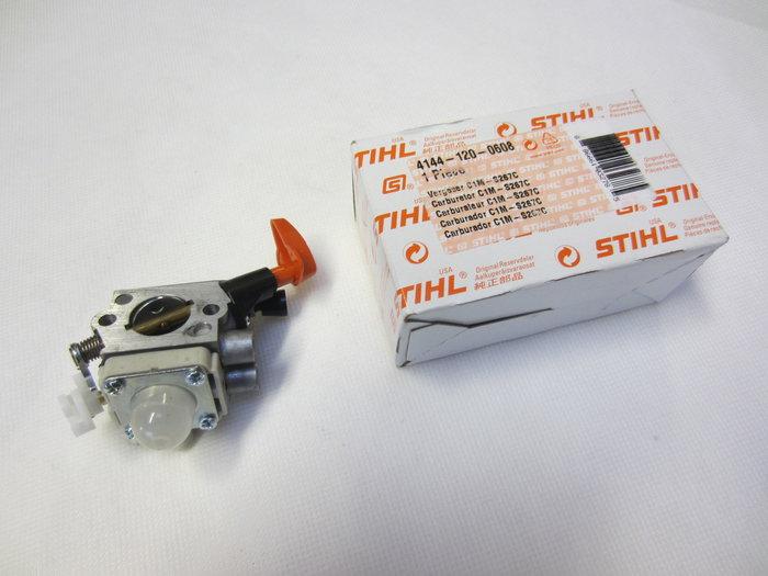 Ersatzteile:                     Stihl - 4144 120 0608 Vergaser C1M-S267A 56,00 €
