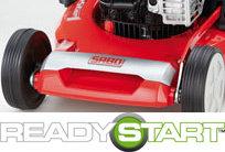 Briggs & Stratton's READYSTART® Startsystem ist der Standard für einfaches Starten. Leicht und zuverlässig für jedermann. Kein Primen, kein Choke, kein Problem.