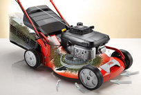 SABO TurboStar™ System  Für optimalen Schnitt bei jedem Wetter. Dank der bewährten TurboStar™-Technologie sorgt ein SABO Mäher auch bei feuchtem Gras für einen perfekten Schnitt und ein überzeugendes Fangergebnis.