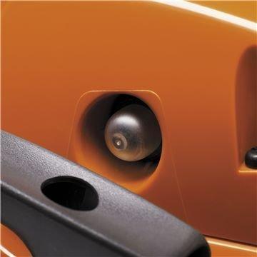 Zylinderabdeckung mit Schnellverschluß  Der Schnellverschluß an der Zylinderabdeckung spart Ihnen Zeit bei Reinigungsarbeiten und beim Wechsel der Zündkerze.