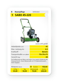 Mieten  Vertikutierer: Sabo - 45-220 (mieten)