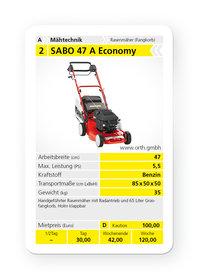 Mieten Benzinrasenmäher: Sabo - 47-A Economy (mieten)