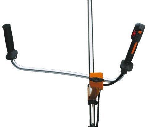 Asymmetrischer Griff - Der angewinkelte Komfort-Zweihandgriff bietet exzellenten Halt und sorgt für eine gute Arbeitsposition.
