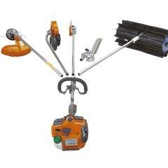 Vielseitig Verschiedene, als Zubehör erhältliche Anbauteile machen die Maschine zum Multifunktionsgerät.
