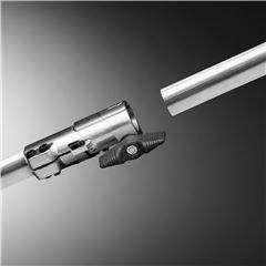 Teilbarer Schaft Teilbarer Schaft für einfachen Transport und platzsparende Verwahrung.