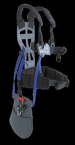 Der Ergonomische Gurt mit großer Rückenplatte, Schulterriemen und Hüftgürtel verteilt die Last über eine größere Fläche.