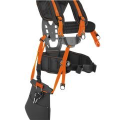 Balance XT Ergonomischer Tragegurt mit breiter Rückenstütze, Schulterriemen und Hüftgurt. Die Last wird dadurch auf eine größere Fläche verteilt. Die Rückenplatte ist verstellbar, so dass ein perfekter Sitz gewährleistet ist.