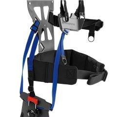 Balance X Der Ergonomische Gurt mit großer Rückenplatte, Schulterriemen und Hüftgürtel verteilt die Last über eine größere Fläche.