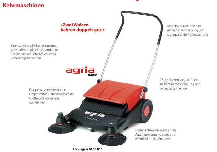 Kehrmaschinen:                     Agria - 6100 Cleanbaby