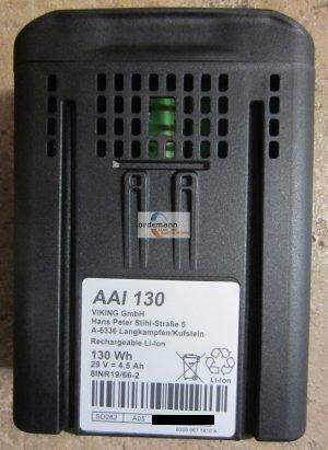 Ersatzteile:                     Viking - 6309 400 6510 - Akku Viking AAI 130 - iMow MI 632 / MI 632C / MI 632P / MI 632PC