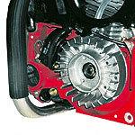 Elektronische, wartungsfreie und staubgeschützte Zündung Gebläse-Lüfterrad für optimale Motortemperatur. Modernste Werkstoffe in Verbindung mit innovativem Konstruktionsaufbau