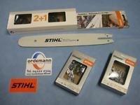 """Ersatzteile:                     Stihl - 7013 200 0019 Kettenset 3/8""""PM3 35 cm (2 Ketten 3636 000 0050 + 1 Schiene 3005 000 4809)"""