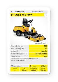 Frontmäher: Stiga - E-Park 220 inkl. 95 EL Quickflip Deck