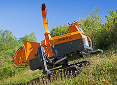 Holzhacker: Jensen - A425 Holzhacker Raupenfahrgestell