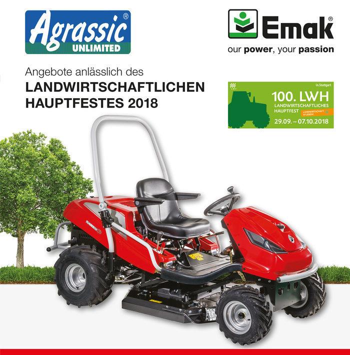 """Gartentraktoren:                     Efco - AGRASSIC BUSTER TUAREG 92 EVO 24 KH - Neuestes """"AGRASSIC-UNLIMITED"""" Hochleistungs-Mulchsystem"""