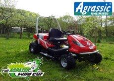 Gebrauchte  Aufsitzmäher: Husqvarna - NEU: ALLRAD HOCHGRASPOWER MIT SUPERPREIS !!! Husqvarna AGRASSIC ALLRAD Rider R 418Ts AWD Kawasaki 2-Zylinder **** (gebraucht)