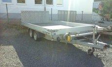 Mieten                                                  Rückwärtskipper:                         Humbaur - ALLCOMFORT 3000 Transportanhänger (mieten)