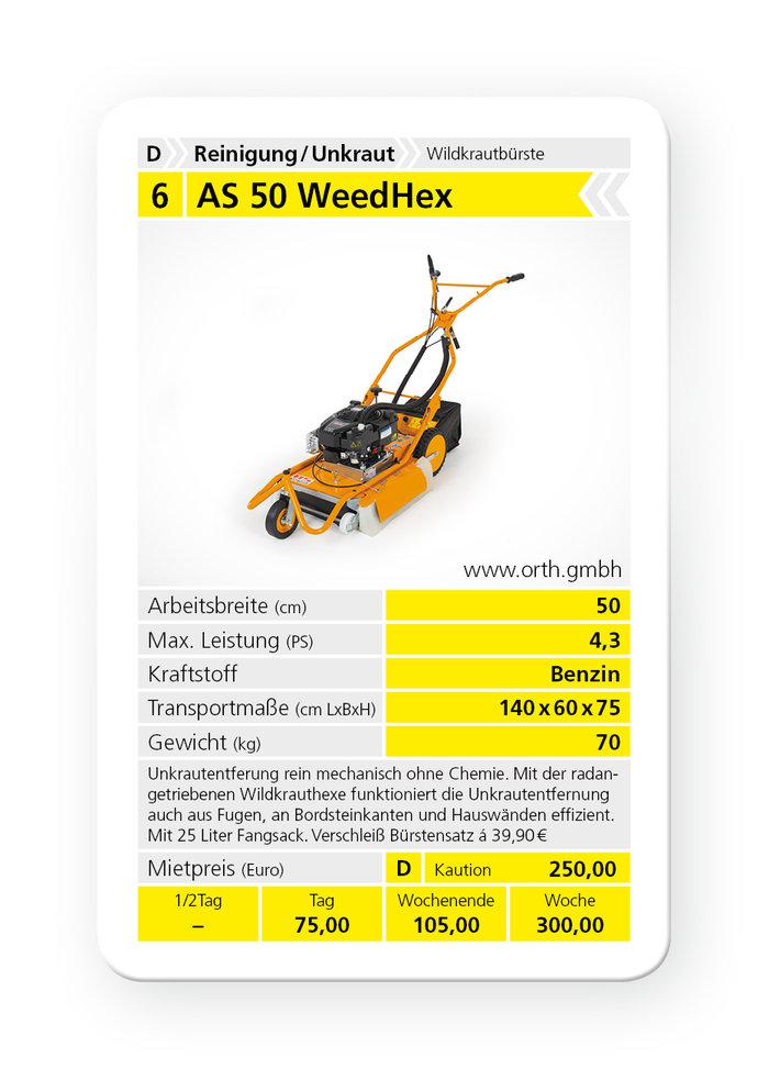 Mieten                                          Wildkrautbürsten:                     AS-Motor - AS 50 WeedHex (mieten)