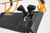 Gas- und Schalthebel  Komfortables Bedienen des Mulchmähers durch ergonomische Bedienungselemente.