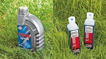 """Vollsynthetisches 2-Takt-Öl """"Titan 2T""""  Für ein optimales umweltschonendes Mischverhältnis. Empfohlen für alle AS-Motor 2T-Motoren."""