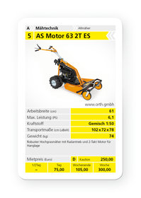 Mieten  Wiesenmäher: AS-Motor - AS 63 2T ES (mieten)
