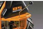 Schaltgetriebe  5-Gang-Schaltgetriebe mit Differenzialsperre und Rückwärtsgang für optimalen Vortieb auch auf feuchtem Untergrund.