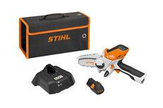 Akkumotorsägen: Stihl - Akku-Gehölzschneider GTA 26, Set mit Akku AS 2 und Ladegerät AL 1